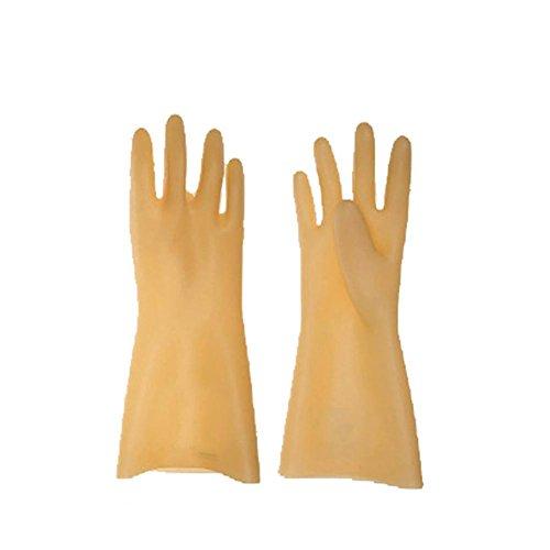 Lange ÄRmel Naturkautschuk Handschuhe Isolierte HV Leben Linie Arbeiten (Leder-arbeits-handschuhe Isolierte)