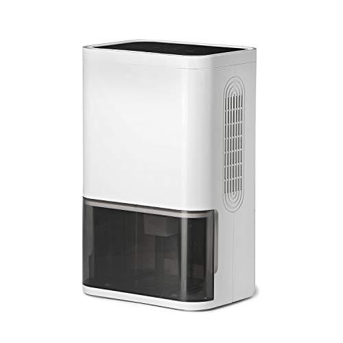 LUKO compacto y portátil mini deshumidificador 1800mL, silencioso tecnología de semiconductor, purificador de aire y temporizador para el hogar, habitación, armario, dormitorio, baño, oficina