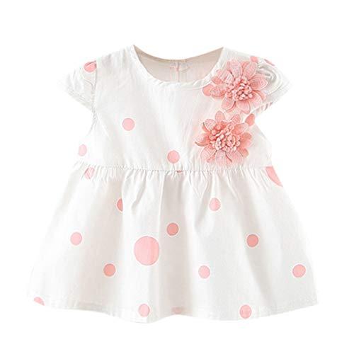 MRURIC❀ Baby Born Kleidung Set,Kleinkind Baby Kinder mädchen dot Blumen Rock Prinzessin Kleider Casual Dress Kinderkleider Overall Kleid Tutu Kleider Outfits Set Partykleid ()