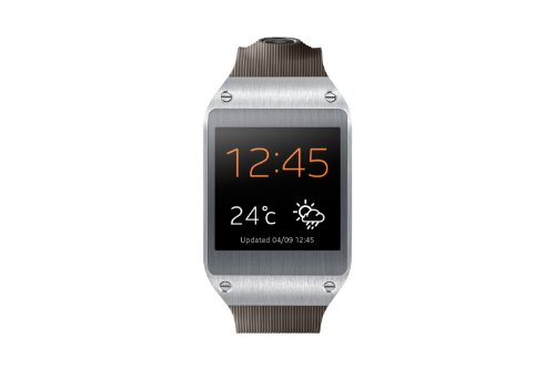 Samsung Galaxy Gear V700 Smartwatch (4,14 cm (1,63 Zoll) SAMOLED-Display, 800 MHz, 512MB RAM, Android 4.3) grau (Samsung Gear Sm-v700)