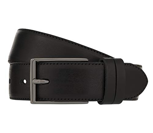 LLOYD Men's Belts Gürtel Herrengürtel Ledergürtel Vollrindleder Schwarz 8023, Länge:90, Farbe:Schwarz
