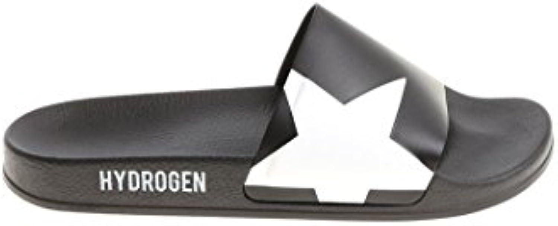 Hydrogen Herren 225910007BLACKO Schwarz Gummi Sandalen