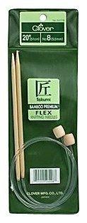 Clover Takumi Bamboo Flex 20-Inch Knitting Needles, Size 3 by Clover - Takumi Clover-stricknadeln