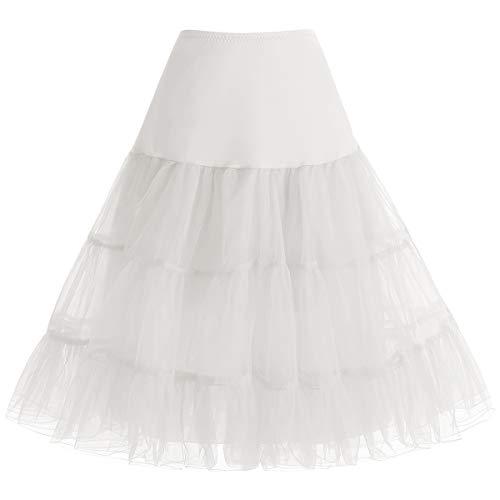 Plus Kostüm 70 Größe - bbonlinedress Organza 50s Vintage Rockabilly Petticoat Underskirt Ivory L