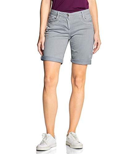 Cecil Damen 372198 New York Loose Fit Shorts, cool Silver, W27(Herstellergröße:27)