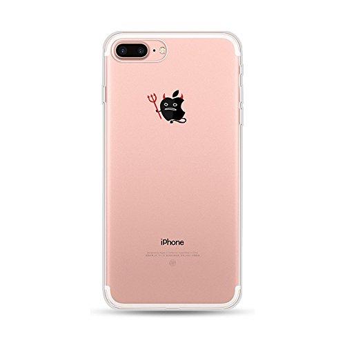 Kreativ Hülle für iPhone 7 Plus iPhone 8 Plus, CrazyLemon Transparent Klar Weich TPU Silikon Handyhülle Durchsichtig Niedlich Kreativ Dämon Muster Ultra Slim Leicht Silikon Gel Zurück Stoßstange Kratzfest Vollschutz Schutzhülle für iPhone 7 Plus iPhone 8 Plus 5.5 Zoll - Pattern 06