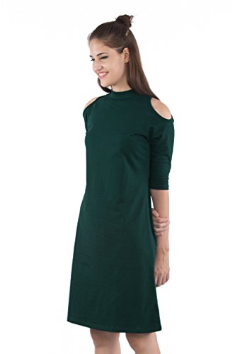 Bewakoof Womens A-Line Dress (Green, L)