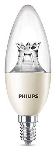 Philips Warmglow - Bombilla LED regulable, casquillo E14, 8 W, cambia entre 3 tonalidades de blanco, requiere regulador, a menor intensidad mayor calidez de luz