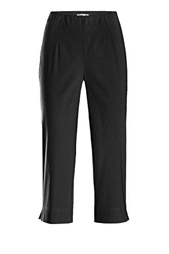 Stehmann - INA 530 Caprihose -viele FARBEN- mit EXTRA-Fashion Armreif-Gerade Pull-On Hose mit Schlitz, Bengaline - , Hosengröße:42, Farbe:Schwarz (Schlitz Hose Gerade)