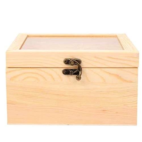 Ishua 1 Stück Holz Ring Box Schmuckschatulle Valentinstag Engagement dekorative Schmuckschatulle zugunsten Geschenk