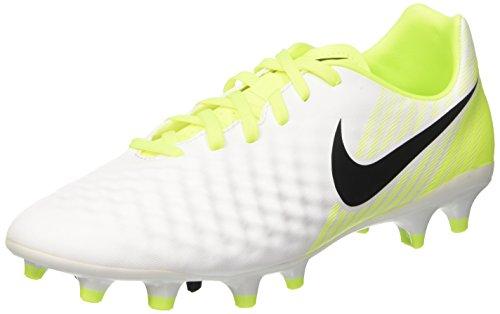 Nike magista onda ii fg - scarpe da calcio uomo, bianco (white/black-volt-pure platinum), 42 eu