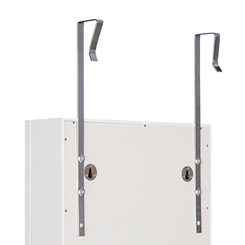 oneConcept Smilla • Schmuckschrank • Schmuckspiegel • Spiegelschrank • Ganzkörper-Spiegel • Maße: 47 x 147 x 37 cm (BxHxT) • Außenbeleuchtung mit 24 LEDs • Türhalterung • Wandhalterung • Material: Holz/MDF • abschließbar • 2 Schlüssel • weiß - 6