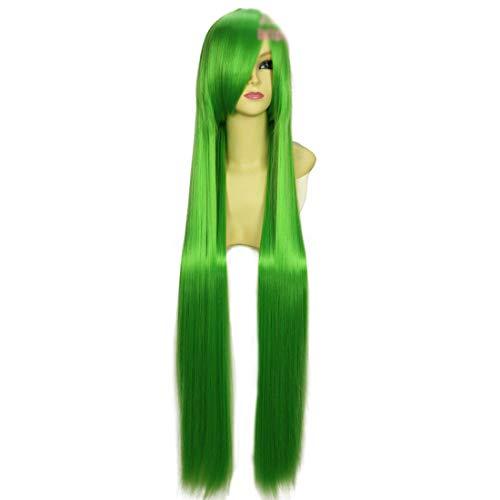 HOOLAZA Fairy Green Lange Gerade mit Side Pony Cosplay Per¨¹cke 100 Cm Code Geass Cc Cosplay ()