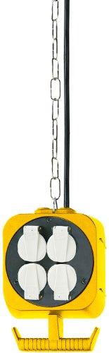 Brennenstuhl Pendel Stromverteiler / Hängeverteiler mit 2 x 4 Schutzkontakt-Steckdosen