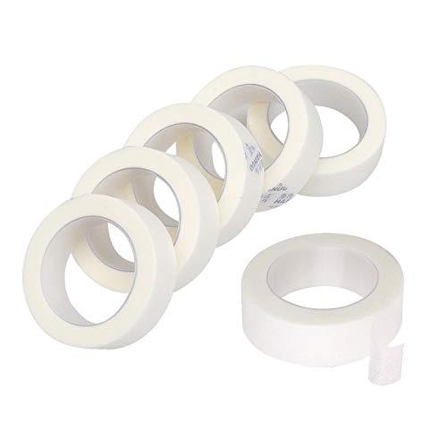 6 Rollen Tape Wimpernverlängerung, Klebeband Wimpernverlängerung, Wimpernklebeband für Wimpern Lash Extension, Lint Free -