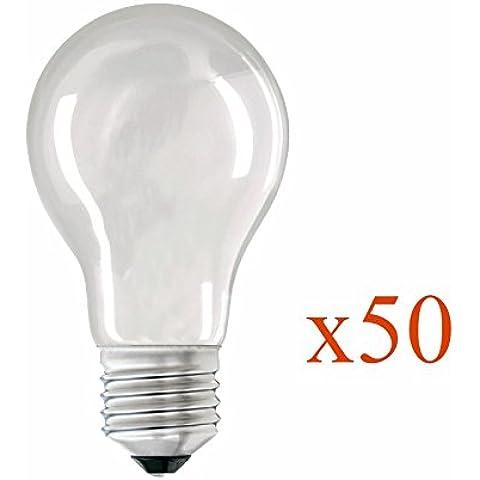 Lote de 50incandescentes peras Givrés. 40Watt E27con tornillo Fin de producción