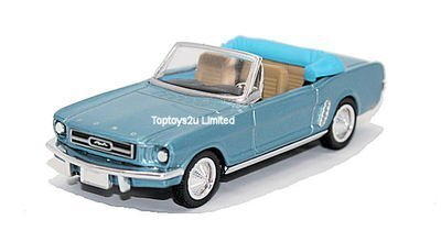 newray-143-diecast-blue-ford-mustang-1964-convertible-all-american-city-cruiser-collection