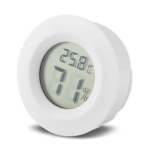 Zetiling Reptilien-LCD-Thermometer, kleine runde Form-Temperatur-Feuchtigkeit für Test-Innenaußenhauptreptilien-Haustier-Temperatur(# 2)