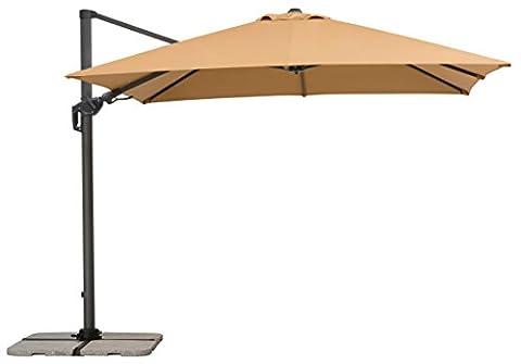 Schneider Sonnenschirm Rhodos Twist, sand, 300x300 cm quadratisch, Gestell Aluminium/Stahl, Bespannung Polyester, 25.7 kg