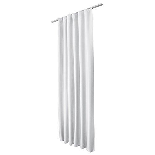 Beautissu Fenster Vorhang Kräuselband-Vorhang Amelie - 140x175 cm Weiß - Dekorative Gardine versalband Fenster-Schal (Dekorative Fenster-schal)