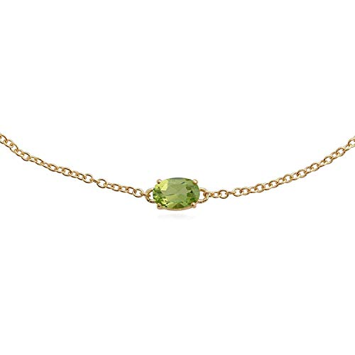 Gemondo Peridot Armband, 9Karat Gelb Gold 0,51CT Peridot 19cm Armband (Peridot Und Gold-armband)