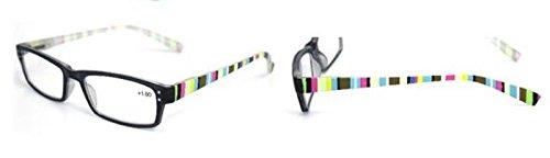 Schicke Damen Lesebrille grau/bunt Lesehilfe mit Flexbügel Fertigbrille +2,5