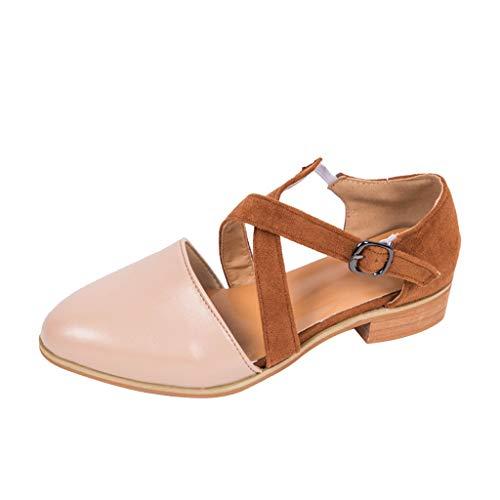 ✿Eaylis Damen Sandalen Spitze Dicke Schnalle Freizeitschuhe Wild Sommer Strand Schuhe Hausschuhe Stilvoll und elegant