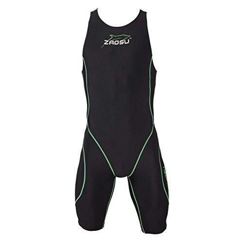 ZAOSU Herren Freiwasserschwimmanzug Z-Black Knielang | Openwater Triathlonanzug, Größe:XXL