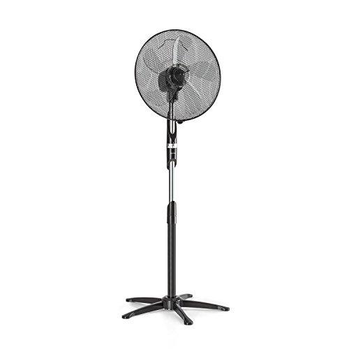 Klarstein Summer Vibe • 16 'foot fan (40 cm) • 60 dB silencer • 55W power • 2040m³ / h air flow • 65 ° oscillation • 3 Grip-Shift speed levels • 5 propeller Sheets • Black