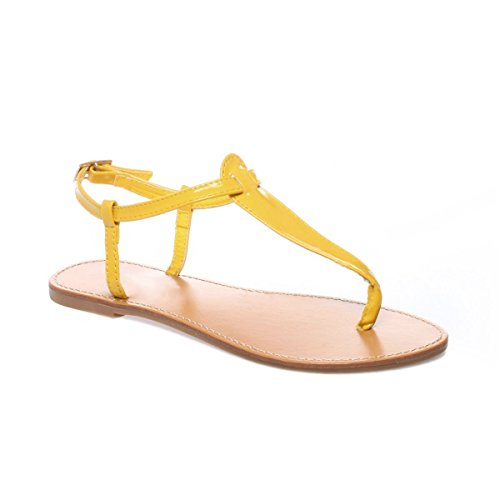 La Modeuse - Sandales vernies femme Jaune