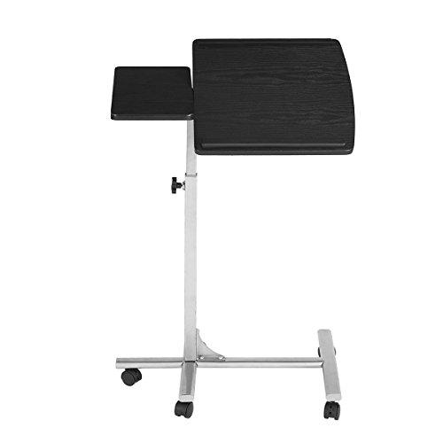 Einstellbare Laptop Schreibtisch Rolling Mobile Tisch Rollen Board Metall Schwarz Silber