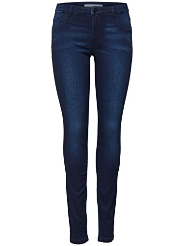 JDY Ladies Cotton Stretch Classic Five Pocket Indigo Blue Denim Wash Skinny Jeans