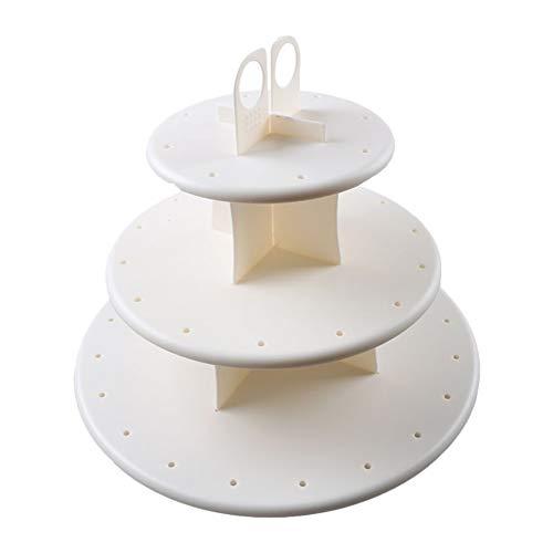 Cicony Cake Pop Stand 3-stufiger runder Cupcake-Ständer mit Lutscherloch