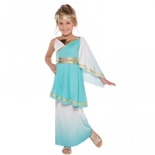 Girls Fancy Dress Grecian Toga Greek Childrens Child Costume (Small Ages 6 -8) ()