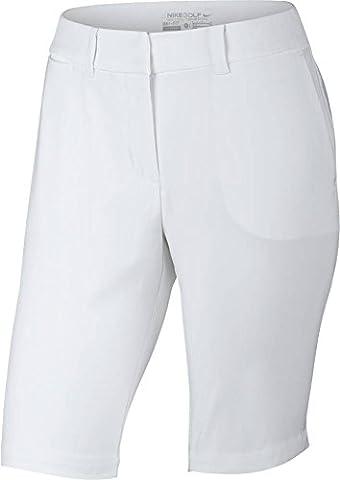 Nike Short Bermuda Tournament Short de golf pour femme Blanc blanc 38
