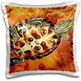 Turtles - Red Ear Slider turtle Hatchling - David Northcott - 16x16 inch Pillow Case