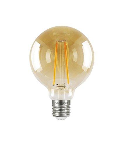 Integral LED-Sunset Vintage E27nicht Dimmbar Lampe, klar, 95mm (Globe 95) 2,5W (40W) K Taschenlampe inkl. Integral Led