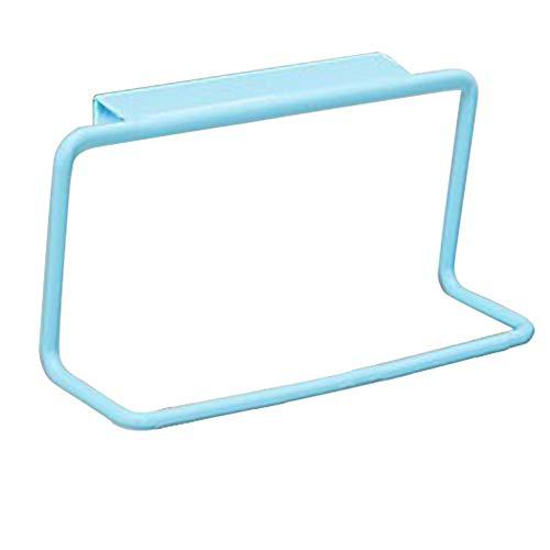 Yiqiane Badezimmerständer Multifunktionale Bad Handtuchhalter Schranktür Zurück Tücher Utensil Hängen Rack Hängen Küchenschrank Werkzeug (Blau) für Ornamente -