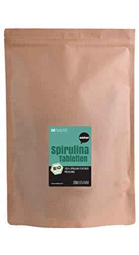 Wohltuer Bio Spirulina Presslinge, Rohkostqualität (DE-ÖKO-006), 250 g