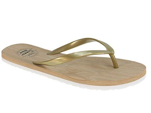 Beppi signore di cadute di vibrazione ciabatte pantofole ciabatte estive Oro