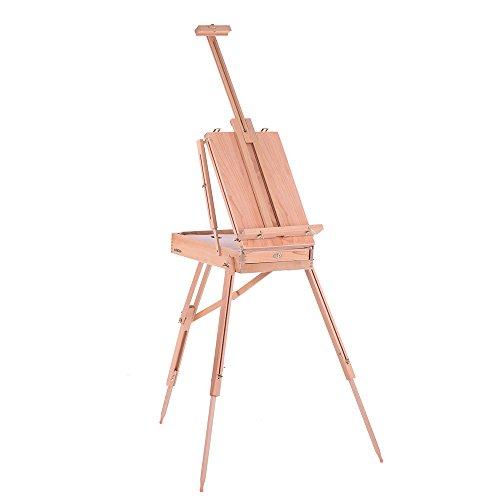 KKmoon Boîte de Chevalet Pliante Professional pour le Dessin de la Peinture à l'Huile en Hêtre