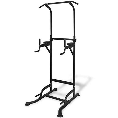 vidaXL Máquina de Musculación Fitness Ajustable Entre 182-235 cm Color Negro