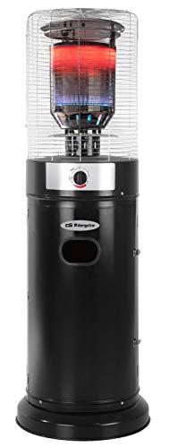 Orbegozo Estufa a Gas de terraza PHE 85. Acabada en Negro, Calor inmediato. Funciona a butano/propano.
