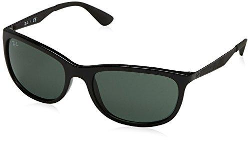 Ray-Ban RAYBAN Unisex-Erwachsene Sonnenbrille 4267 Black/Green 59