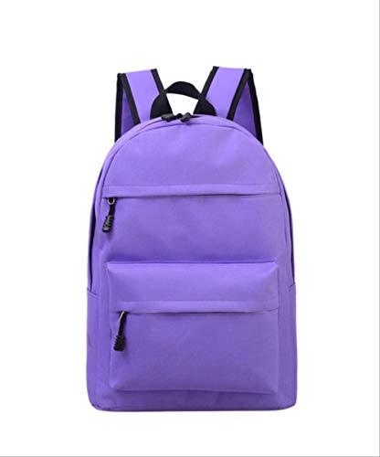 LINADEBAO Einfarbig Frauen Rucksack Hochwertige Nette Rucksäcke Weibliche Schultaschen Für Jugendliche Mädchen Reisetasche lila - Nike Pegasus 30 Frauen