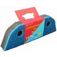 Ersatzschwamm 2-Komponenten Schaumstoff + Scheuervlies für Besen Schaumstoffbesen (2 Stück)