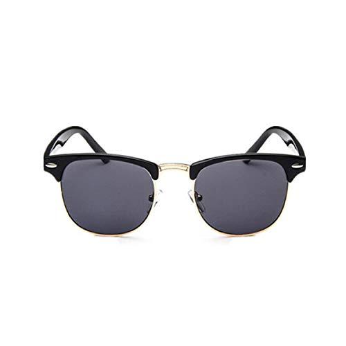 Klassische Sportsonnenbrille, Half Metal Sunglasses Men Women NEW Designer Eyeglasses Mirror Sunglass Fashion Gafas De Sol Leopard Driving Sun Glasses Goldgray