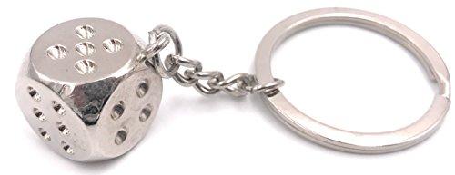 H-Customs Würfel Spielwürfel Knobeln silber Schlüsselanhänger
