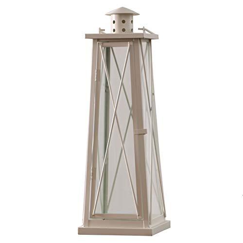 Chandeliers Bougeoir chandelier vintage blanc, chandelier de fer pour la table de salle à manger de salon, lumière de cheval coupe-vent de cour
