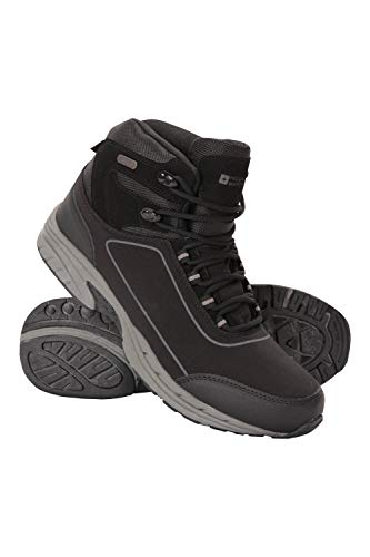 Mountain Warehouse Ramble Mens Softshell Boots - Waterproof Upper Walking Shoes, Mesh Lining, EVA Cushion Hiking Boots, High Traction Outsole - Great for Comfort & Style